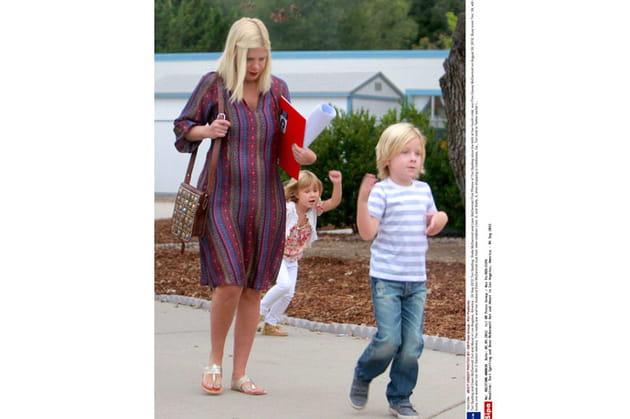 Tori Spelling et ses enfants Liam et Stella