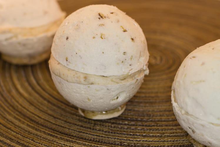 Sphères meringuées et sa mousse aux marrons