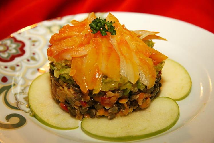 Salade de haddock aux lentilles et pommes vertes