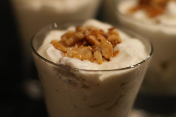 Nougat glacé au miel d'acacia et fruits secs