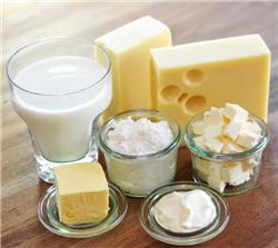 les produits laitiers sont très riches en calcium.