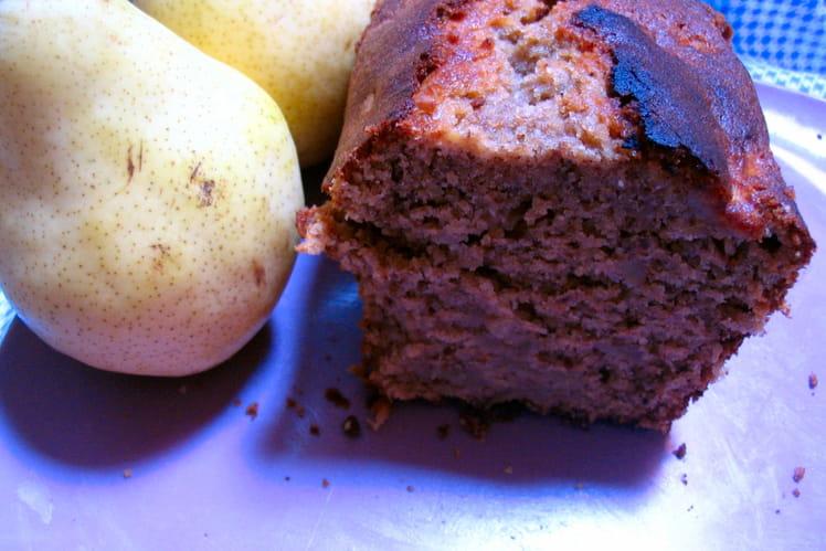 Cake aux poires et noix de pécan