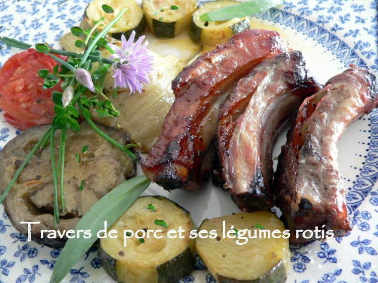 Recette de travers de porc et ses l gumes rotis la recette facile - Cuisiner travers de porc ...