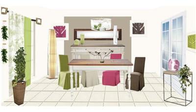l'ambiance imaginée par la décoratrice pour la salle à manger