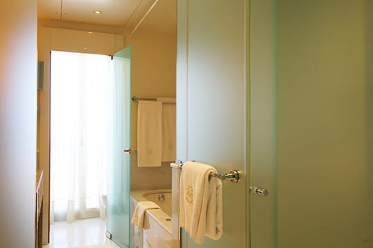 Salle de bains vaporeuse