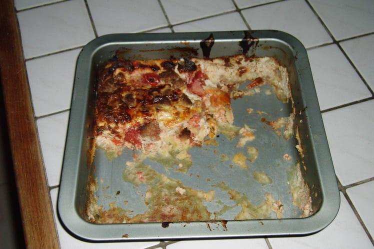 Flan aux tomates et au jambon