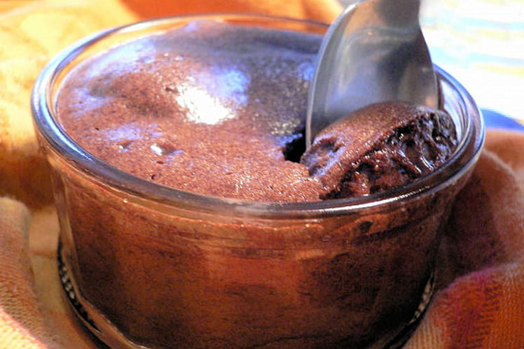 Petits soufflés chocolat-café