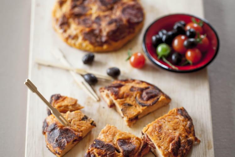 Tortilla au Tomacouli® et chorizo