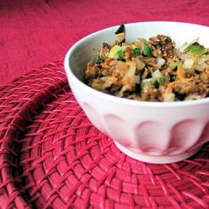légumes aux flocons de blé croquants