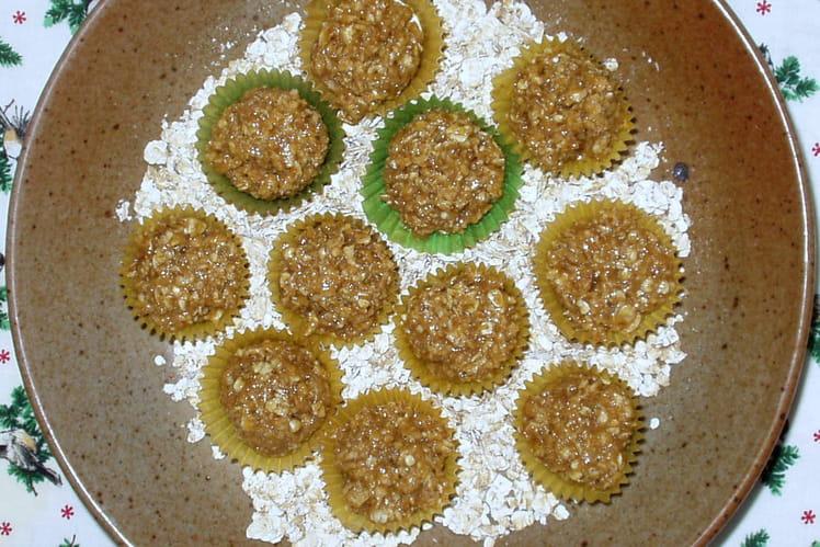Bouchées aux flocons d'avoine et au caramel