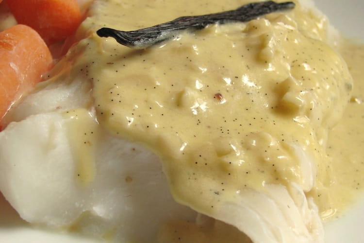 Papillotes de cabillaud sauce vanille