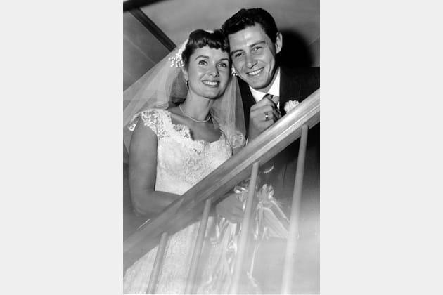 Debbie Reynolds et Eddie Fisher, le jour de leur mariage, en 1955
