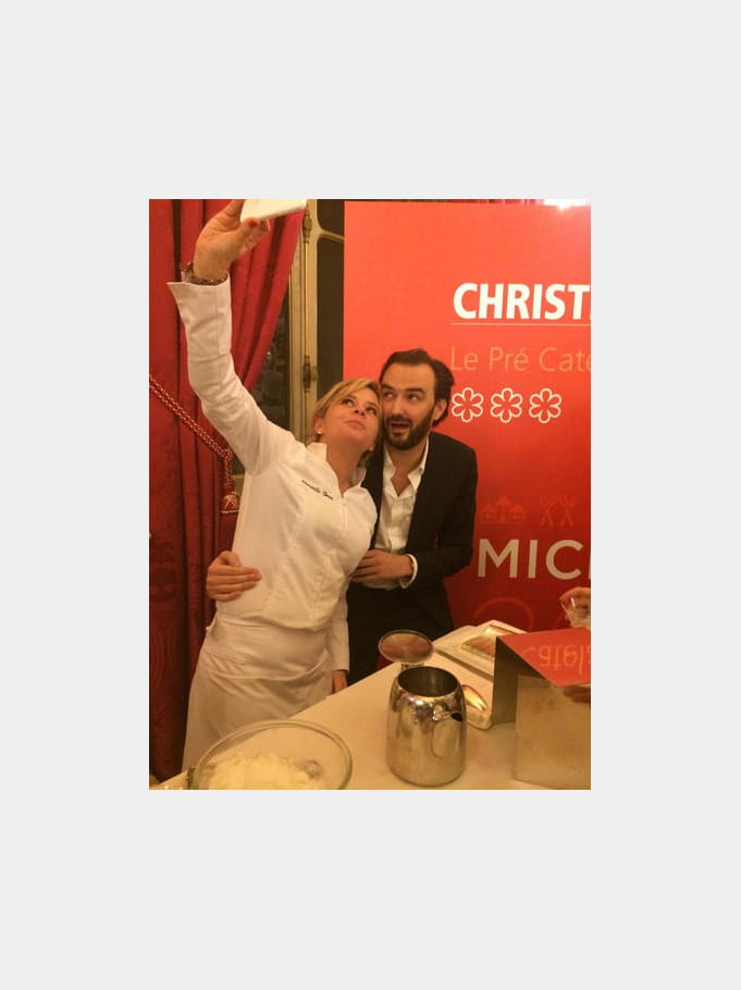 Cyril Lignac et Christelle Brua en mode pose