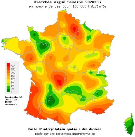 carte gastro-entérite france régions
