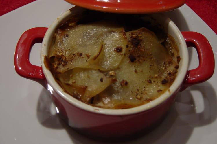 Pommes de terre et magrets d'oie fumés