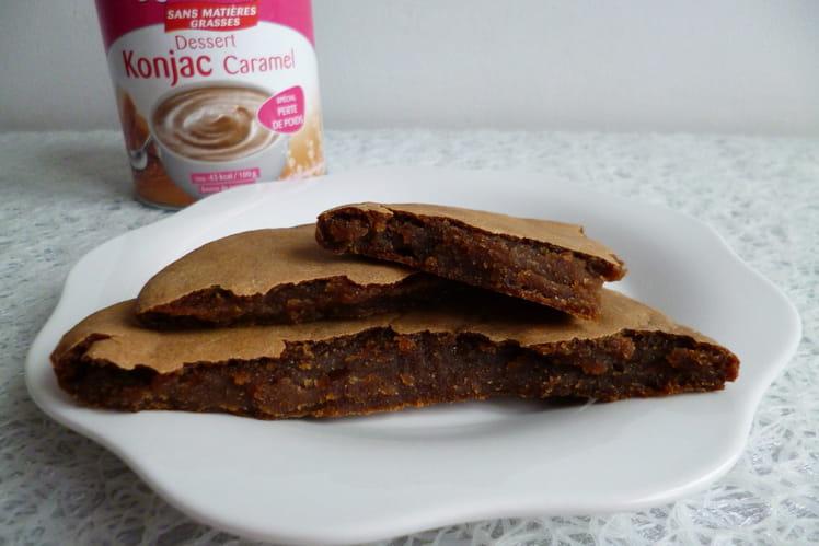 Pancake allégé au caramel et au konjac