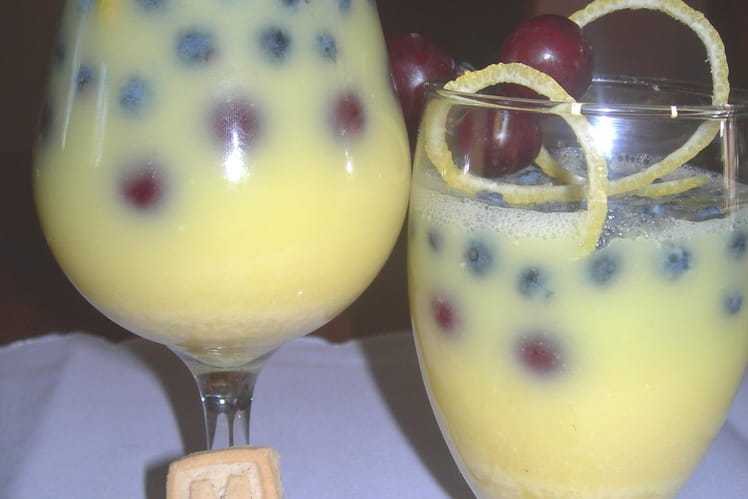 Verrine au citron gazéifié