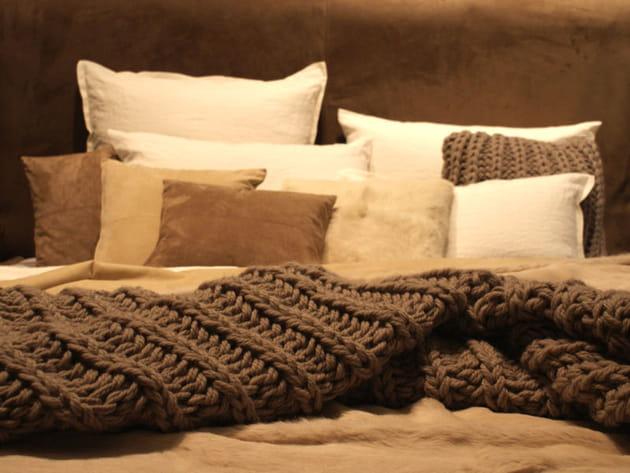 Plaid en laine de luiz - Plaid grosse maille ...