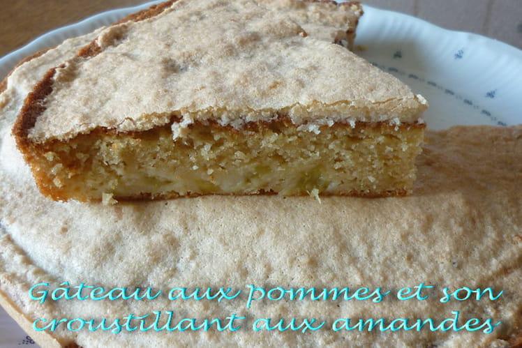 Gâteau aux pommes et son croustillant aux amandes