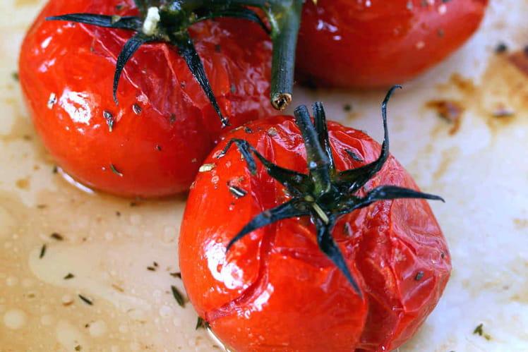 Tomates grappes rôties au four