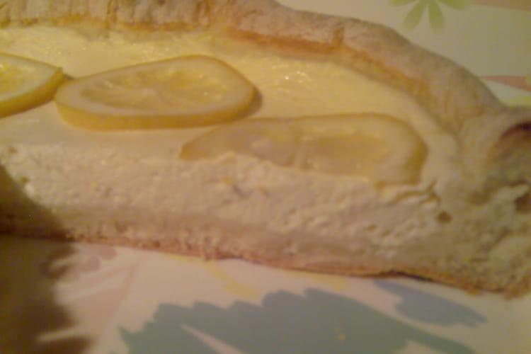 Cheesecake au citron sans beurre et sans sucre