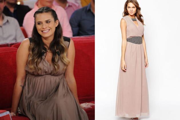 Clara Morgane : une robe longue au style empire