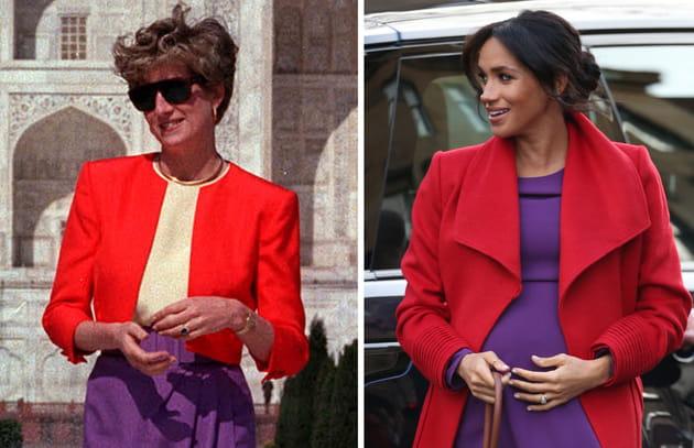 Meghan Markle et Lady Di: deux aristocrates pour un style