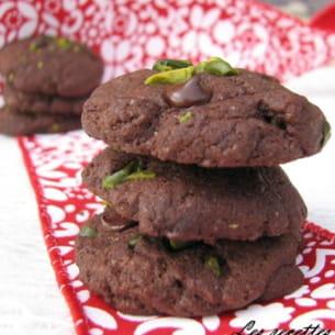 mini cookies choco-pistache