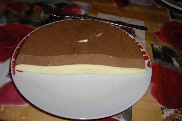Bavarois au chocolat et à la vanille