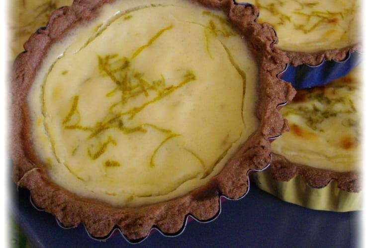 Tartelettes choco-lime