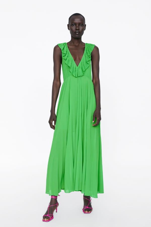 nouveau style ac6be 882e7 Robe longue plissée de Zara