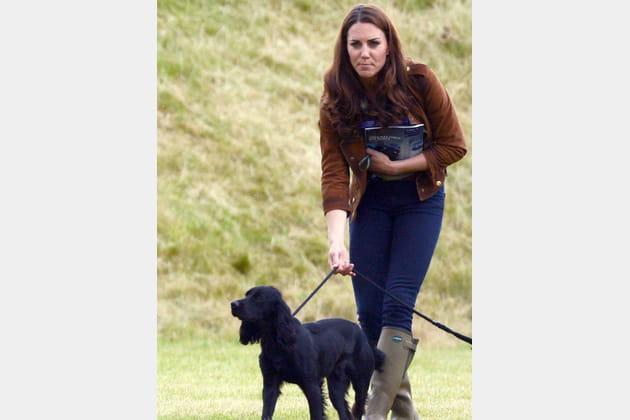 Kate Middleton au club de polo avec son chien