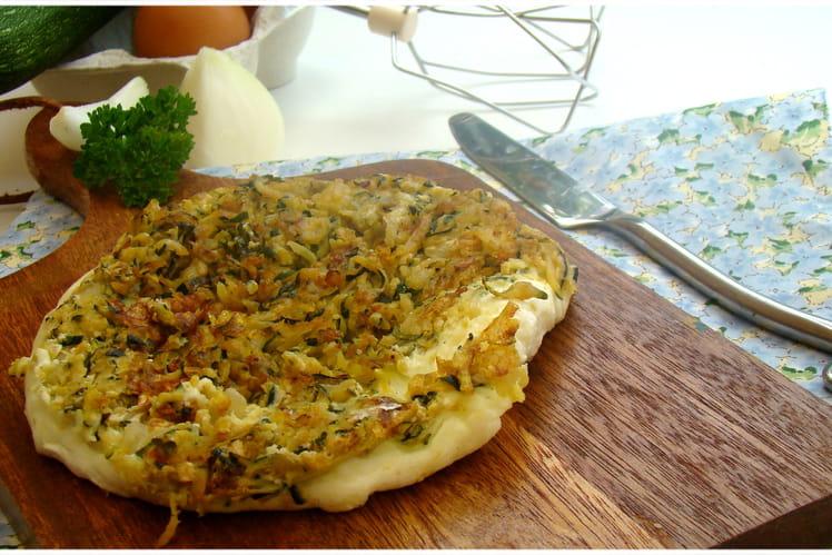 Omelette blanche soufflée à la courgette