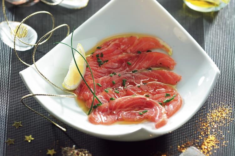 Saumon mariné à l'huile d'olive