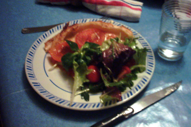 Tarte à la tomate et au comté