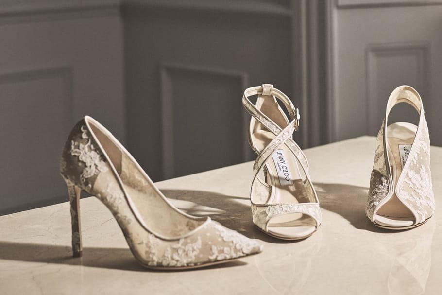 dc28cf6314c0 Chaussures mariage : talons, à plat ou en baskets... Comment choisir ?