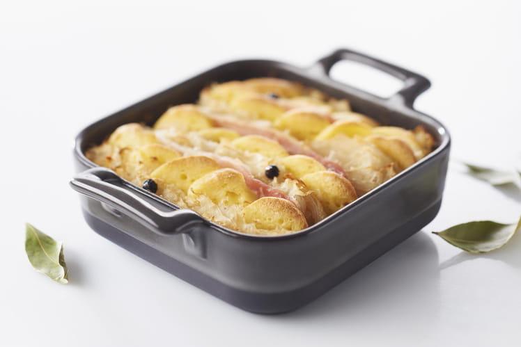 Choucroute lyonnaise en gratin quenelles au brochet
