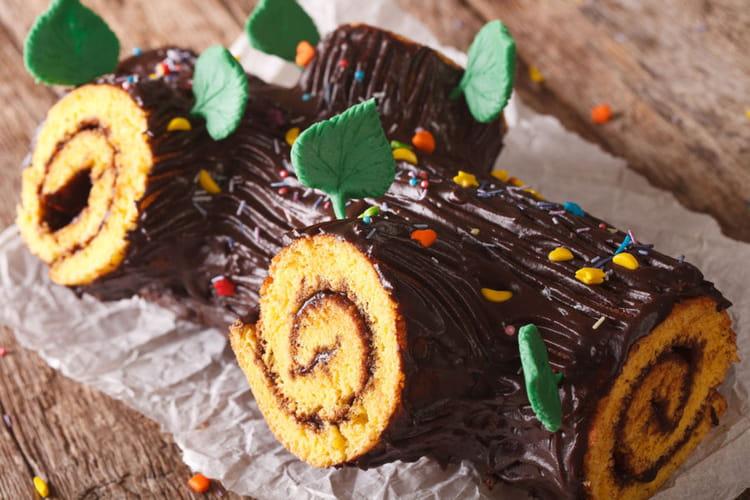Recette De Bûche Roulée à La Mousse Au Chocolat