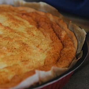 tarte soufflée au chou-fleur