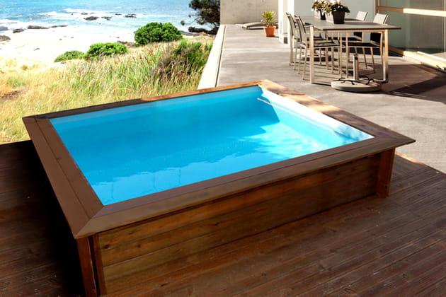 Piscine en bois lulu par habitat jardin for Acheter piscine en bois