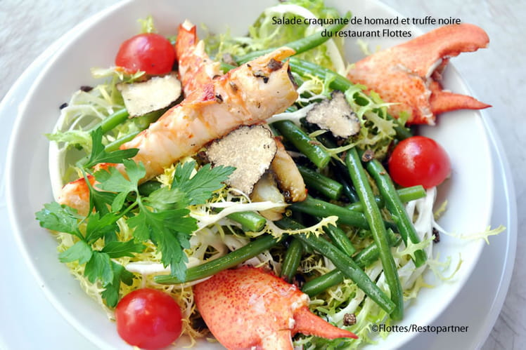Salade craquante de homard et truffe noire
