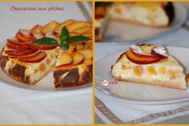 Cheesecake aux pêches