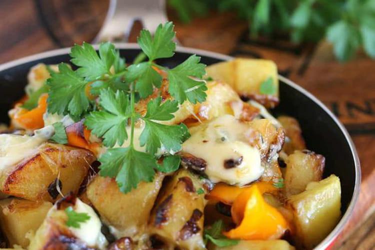 Poêlée de pommes de terre au bleu