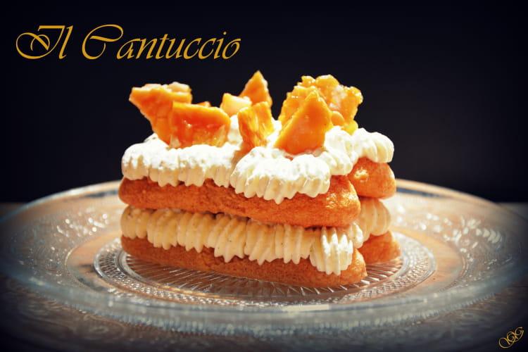 Dessert façon mille-feuille au caramel aux amandes et mascarpone Il cantuccio