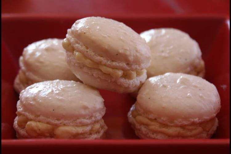 Macarons bio vanille, crème au beurre banane vanillée