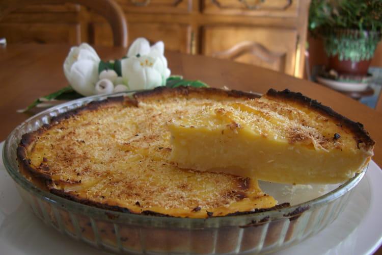 Tarte à la crème pâtissière à la noix de coco