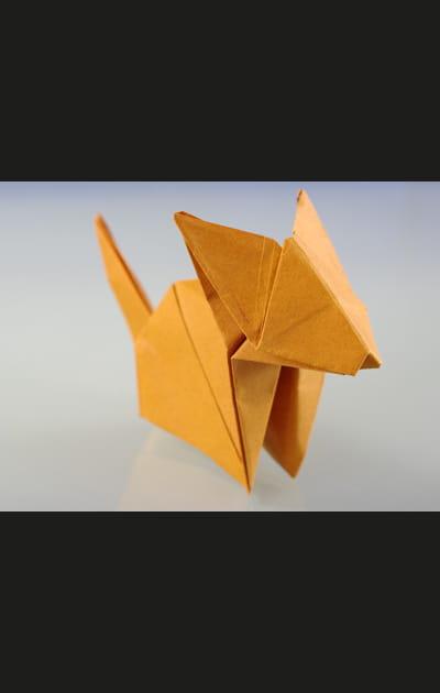 Origami chat - C'est terminé!