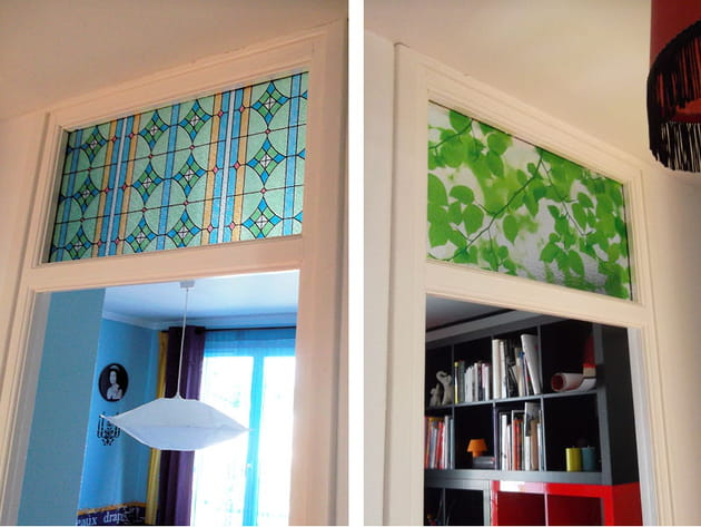 Couloir avec vitraux