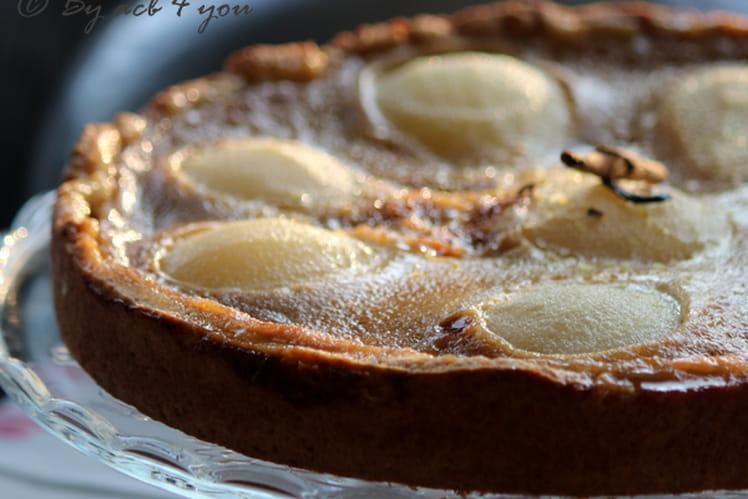 Tarte aux poires comme une crème catalane