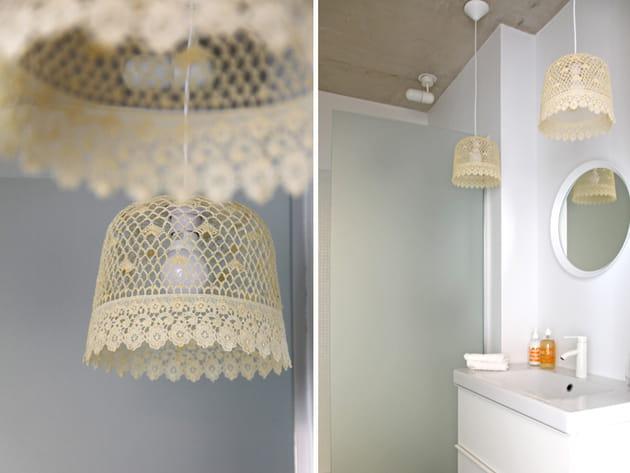 Salle de bains dentelles